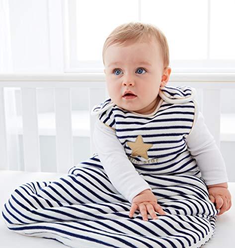 Grobag - Saco de dormir para bebé, tamaño 6-18 meses, para invierno, 3,5 Tog, diseño unisex con estrellas pequeñas para climas fríos, con cremallera lateral