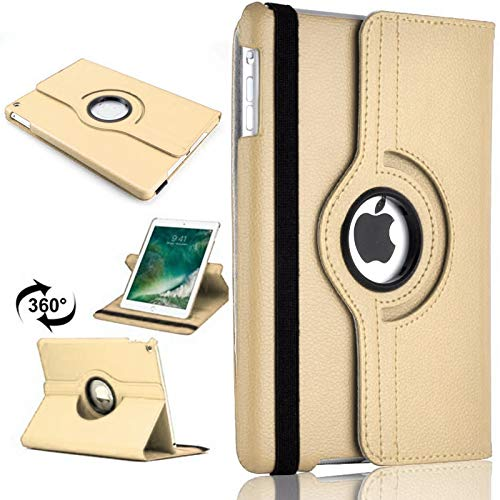 PU Leather Rotate Stand Case Cover For Apple iPad 10.2 2019/2020 8th/7th Gen A2428 A2429 (Gold)