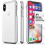 iPhone XS Case, SaharaCase Protective Kit Bundle with [ZeroDamage Tempered Glass Screen Protector] Rugged Protection Anti-Slip Grip [Shockproof Bumper] Anti-Scratch Back Slim Fit iPhone 10 - Clear