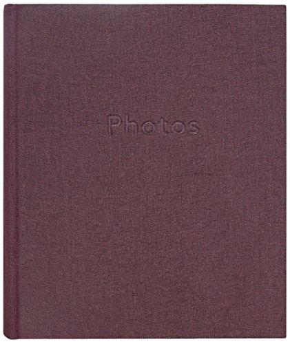 ZEP q5825 Fotoalbum plakband vel formaat 24 x 32 cm 100 pagina's linnen papier gelamineerd bordeaux 34 x 30, 5 x 4, 5 cm
