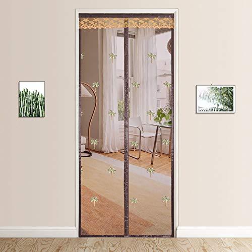 Magnetisch deurscherm met eenvoudig te installeren afdichting van boven naar beneden Automatisch Magnetisch streepgordijn Insectenbestendig Om de kamer binnen te komen,B,120 * 220