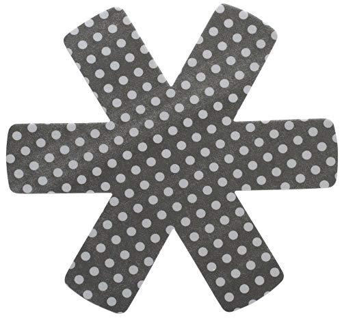 Steuber 3er Set Pfannenschutz 38 x 38 cm, Stapelhilfe und Kratzschutz für Pfannen, grau