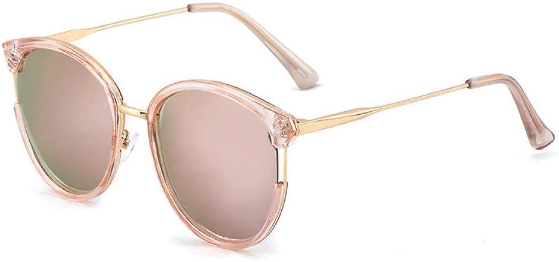 Fuqiuwei Sonnenbrillen Simple And Versatile Temperament Sunglasses Female Sunglasses Retro Round Frame Personality Sunglasses A