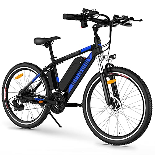 ENGWE Electric Bike Adult Electric Mountain Bike 250W E-Bike 26'' Electric Bicycle with Removable 36V 8Ah Battery, Professional 21 Speed Gear Electric Bicycle (Blue)