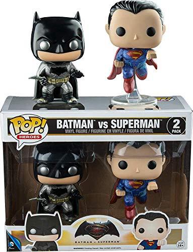Funko, 7005–Batman vs Superman: 2 Figuras Pop Vinyl, en version metalica