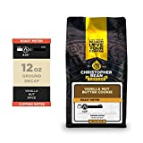 Christopher Bean Coffee - Vanilla Nut Butter Cookie Flavored Coffee, (Decaf Ground) 100% Arabica, No Sugar, No Fats, Made with Non-GMO Flavorings, 12-Ounce Bag of Decaf Ground coffee