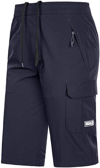 Subfamily/® Pantalones Corto Hombre Deporte Pantalones Cortos Hombre Deporte Bolsillo de Playa Casual de Camuflaje para Deportes Al Aire Libre Verano Casual