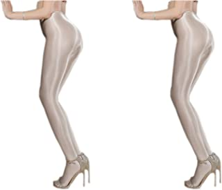Women's Control Top Thickness Stockings Pantyhose, Ultra Shimmery Stretch Plus Footed Tights