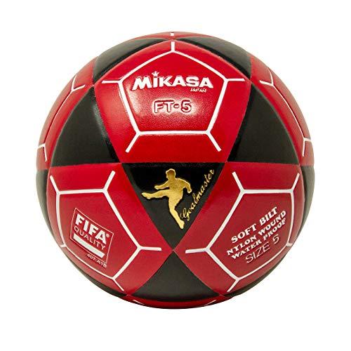 Mikasa FT5 - Pallone da calcio Goal Master, taglia 5, colore: Nero/Rosso