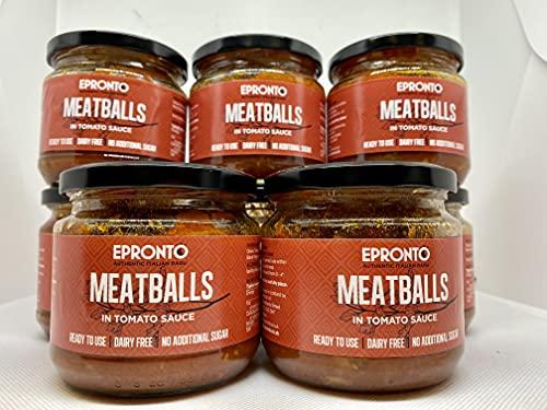 EPRONTO Ambachtelijke gehaktballetjes in tomatensaus – traditionele Italiaanse gehaktballetjes gemaakt met rundvlees en…