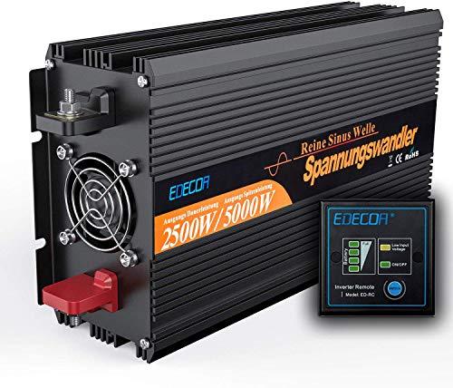 Wechselrichter Reiner Sinus 2500 5000W Spannungswandler 12V 230V Spannungswandler mit Fernbedienung Power Inverter 2500w