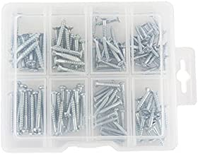 Wood Screw Assortment Kit, Flat and Semi-Round Head Screws, Screwdriver Tool Needed, Variety of Sizes, 138 Pieces