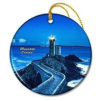 フランスプルザン灯台フランスクリスマスオーナメントセラミックシート旅行お土産ギフト