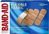 BAND-AID 4444 Flexible Fabric Adhesive Bandages, 1-Inch x 3-Inch, 100/Box