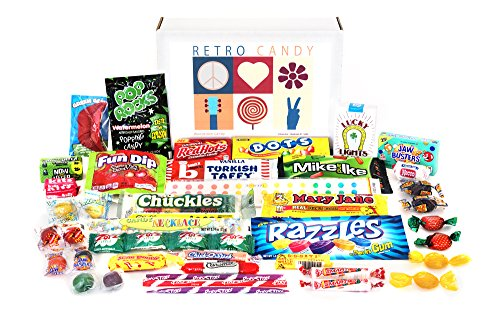 Woodstock Candy ~ Holiday Care Package Assortment Gift Box Retro Nostalgic Candy Mix from Childhood for Man or Woman Jr