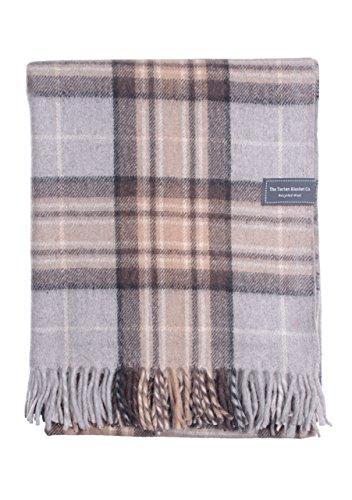 The Tartan Blanket Co. Couverture recyclée en Laine – Style Tartan écossais Mackellar