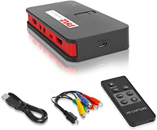 Pyle Video Game Capture Card - AV Recorder Converter, HDMI Support, Full HD 1080P Digital Media File Creation System with ...