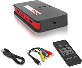 Pyle Video Game Capture Card - AV Recorder Converter, HDMI Support, Full HD 1080P Digital Media File Creation System with Audio For USB, SD, PC, DVD, PS4, PS3, XBox One, XBox 360 and Wii(PVRC52)