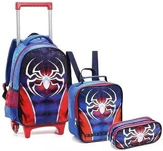 Kit Mochila Aranha Escolar Infantil Rodinhas Super Spider G
