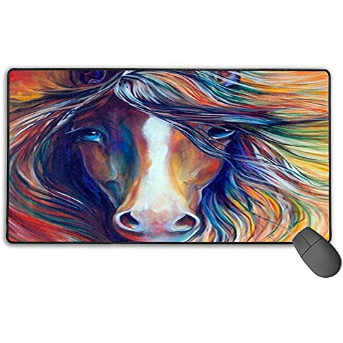 Grote muismat, Paardenontwerp, Extended Game-muismat, antislip, rubberen muismat, 40 x 75 cm