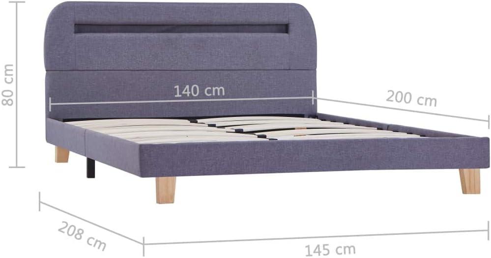 Festnight Estructura Cama Design LED Soporte Laminas Somier ...