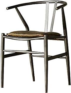MFLASMF Meubles de Maison Chaise de Salle à Manger de Style rétro Industriel en Fer Chaise d'ordinateur Chaise de Bureau C...
