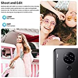 Mobile Phone, Blackview A80 SIM-Free Unlocked Mobile Phones, 4G Android 10 Smartphone with 6.217 inches Waterdrop Screen, 13MP Camera, 4200mAh Battery, 128GB Extension, Face/Fingerprint Unlock - Black