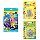 JOVELY Amos Glass Deco, Window Art and Sun Catchers Craft Kit, Paint Your Own 12 Suncatchers, Create Your Own Window Clings for Kids with 5 Original Color, 1 Twinkle Confetti Color and Luminous Color
