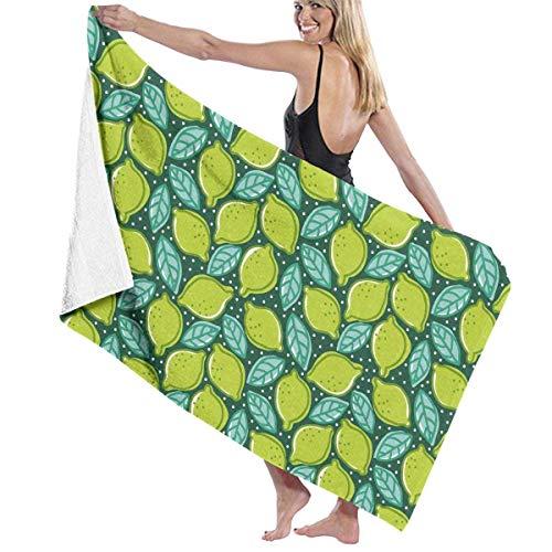 MKLQ Microfiber Pool Beach Towel Lime and Pepper Mint Quick Dry Bath Towel Surf Towels Yoga Mat (31.5' X 51.2')
