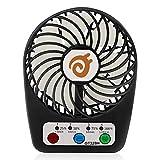"""Kompakt und Tragbar - 3 """"palm-sized mini wiederaufladbare usb fan (Usb powered / eingebaute 18650 Lithium-Ionen-Akku). Super leicht und handlich Premium-Qualität und einzigartiges Design - Der stabile Lüfter erzeugt eine leichte Brise, um dich kühl u..."""
