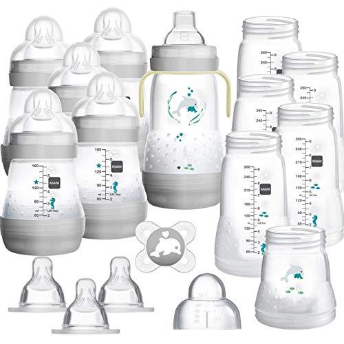 MAM XXL Easy Start Anti-Colic Babyflaschen Set, Bodenventil gegen Koliken, mitwachsend, selbst-sterilisierend, unisex