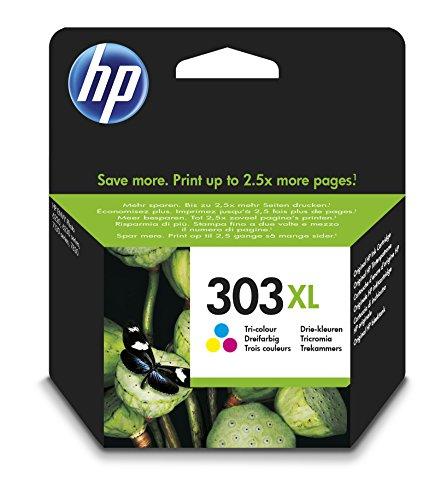 HP 303 Multipack Original Druckerpatronen für HP ENVY Photo 6230, 7130, 7830, Dreifarbig, XL