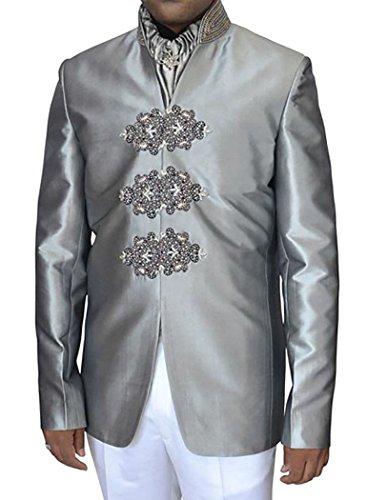 VITALI Mens 3 Piece Suit Jacket Vest Pants Wedding Business Prom Suits Sharkskin Green