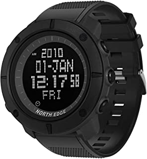 NORTH EDGE Men's Sports Digital Watch Army LED Back Light Display Water Resistant 50m Stopwatch Alarm Multifunction Wrist Watch
