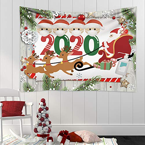 Christmas Backdrop Banner Party Decorations Supplies 2020, Christmas Quarantine Survivor Backdrop Photo Booth Party Banner Decorations for Fireplace/Wall Party Decor Banner Christmas Wall Hanging Tapestry