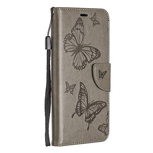 BravoDay Galaxy J6 2018 Hülle, Premium Leder Tasche Flip Wallet Case [Kartenfächern] PU-Leder Schutzhülle Brieftasche Handyhülle für Galaxy J6 2018-Braun
