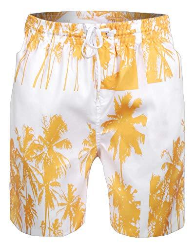 Sykooria Pantaloncini da Bagno Uomo Asciugatura Rapida 3D Costume da Bagno da Spiaggia Casual con Chiusura a Coulisse ed Elastico in Vita