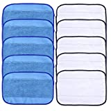 Linkstyle 10Pcs Microfiber Mopping Cloths [5 Wet & 5 Dry] Washable & Replaceable Mopping Pads for iRobot Braava 380 380t 321 Mint 4200 4205 5200 5200C Floor Mopping Robot
