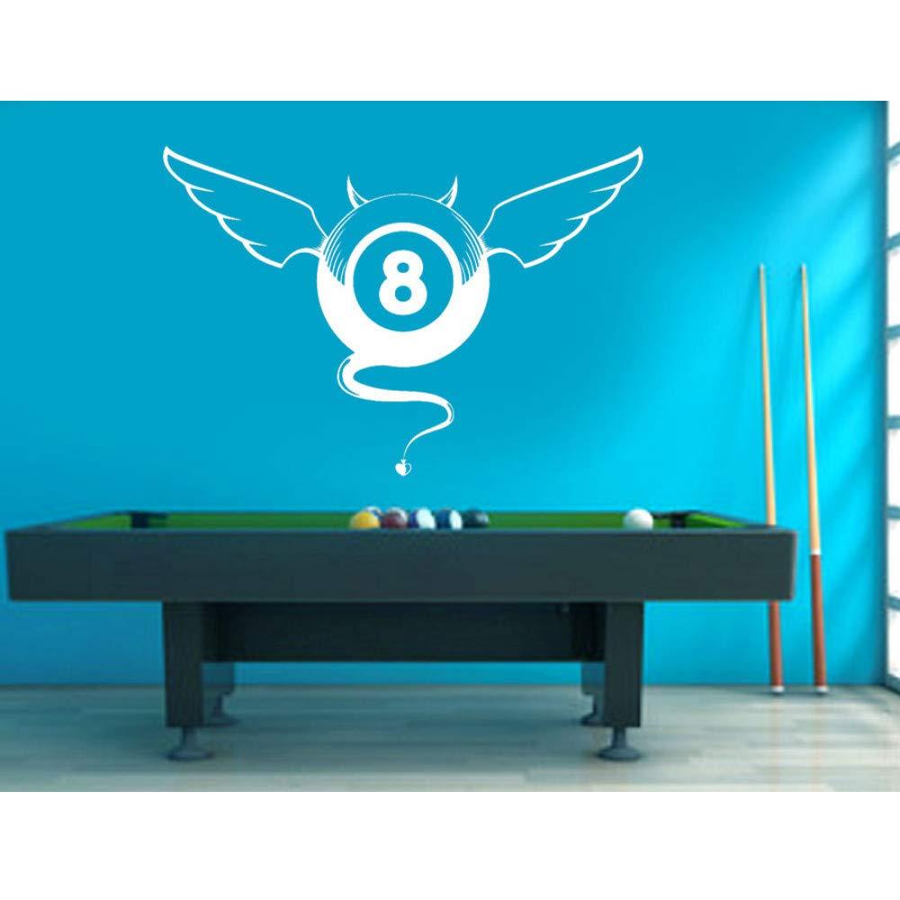 Knncch Diseño De Billar Etiqueta De La Pared Juego De Piscina Calcomanía Snooker Deportes Hogar Decoración Interior Extraíble Mural: Amazon.es: Bricolaje y herramientas
