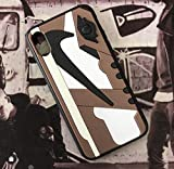 iPhone 3D AJ1 Travis Scott Cactus Jack Shoe Case Official Print Textured Shock Absorbing Protective Sneaker Fashion Case (iPhone 7+/8+)