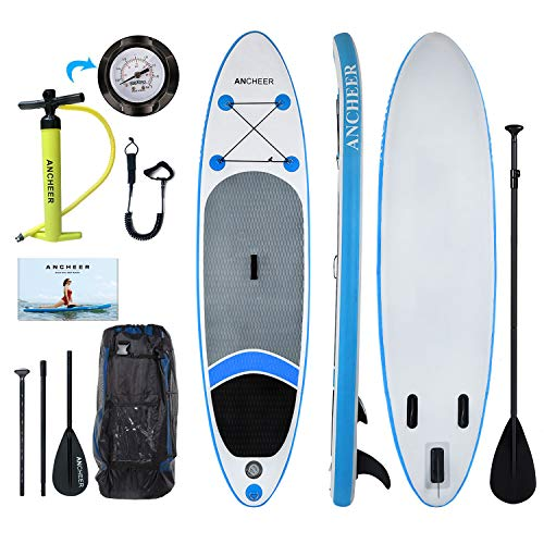 ANCHEER Inflatable Stand Up Paddle Board 10', Non-Slip Deck(6 Inches...