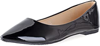 b05c6079363588 Bella Marie Angie-28 Women s Classic Pointy Toe Ballet Flat Shoes