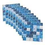Homoyoyo 50 Piezas de Azulejos de Mosaico Azul Pegatinas de Cáscara Y...