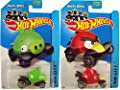 2014 Hot Wheels - Angry Birds - RED BIRD & MINION PIG (SET OF 2)