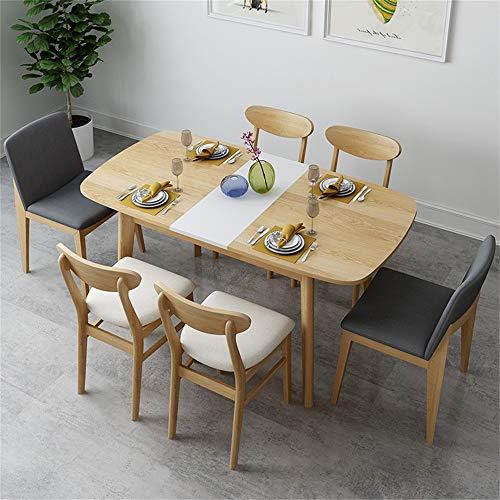 Nordic Kitchen Dining Table Mesa De Comedor Plegable con 4/6 Sillas Juego De Mesa Y Sillas De Madera Juego De Mesa Y Sillas De Cocina para 6 Personas