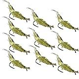 HCFKJ 10 stücke Shrimp Weiche Prawn Lure Haken Angelgerät Köder Salzwasser Bass Angelköder