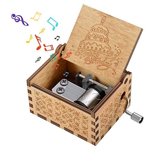 Regalo de cumpleaños para niños, cumpleaños Caja de Madera Musical Regalos para niñas de 3 a 12 años Popular Popular para niños de 2 a 10 años