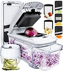 cheap Full Star Mandolin Slicer Spiralizer Vegetable Cutter Vegetable Cutter Onion Chopper Hood…