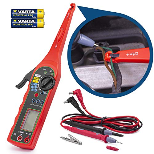 Stromprüfer Multimeter Digitaler Spannungsprüfer Tester LCD Display inkl. Batterie