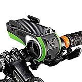 AOveise, Bluetooth V4.0, altoparlante, 4400 mAh, power bank, luce della bicicletta, campanello per bicicletta, staffa per telefono, supporto per telefono, tutto in uno
